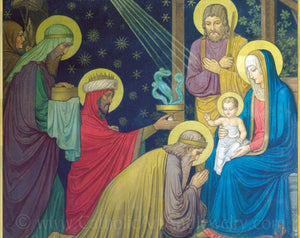 "Christmas Nativity by Benedictine monks–8.5x11"" – Catholic Art Print"