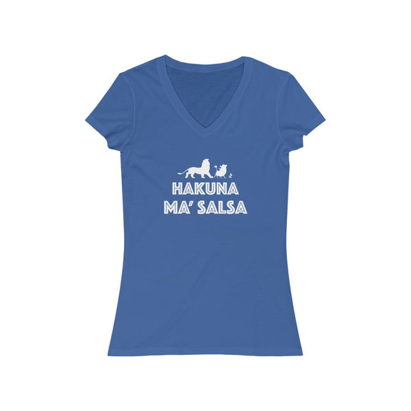 Woman's 'Hakuna Ma'Salsa' Fitted V-Neck