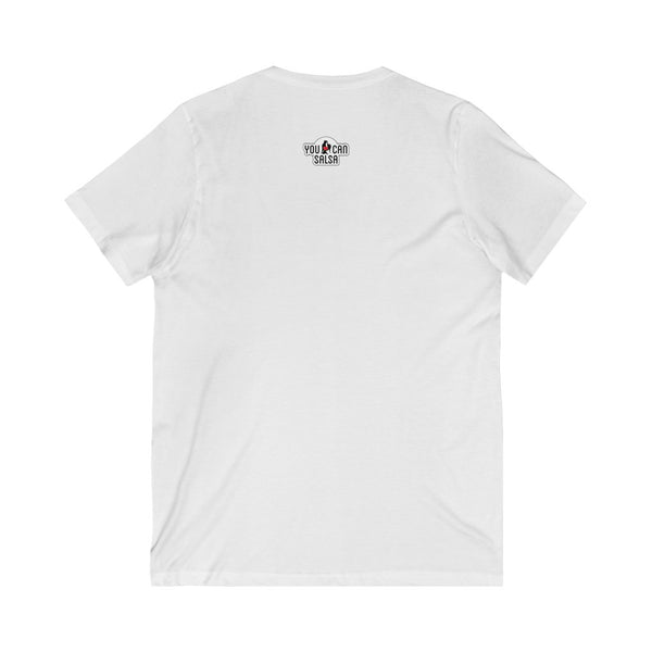 Men's You Can Salsa White Logo V-Neck