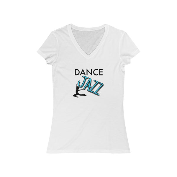 Woman's 'Dance Jazz' Fitted V-Neck