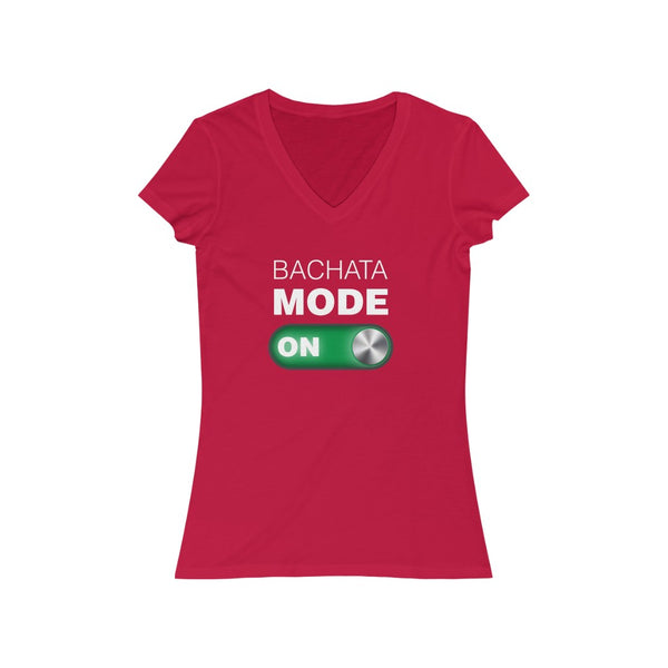 Woman's 'Bachata Mode ON' Fitted V-Neck