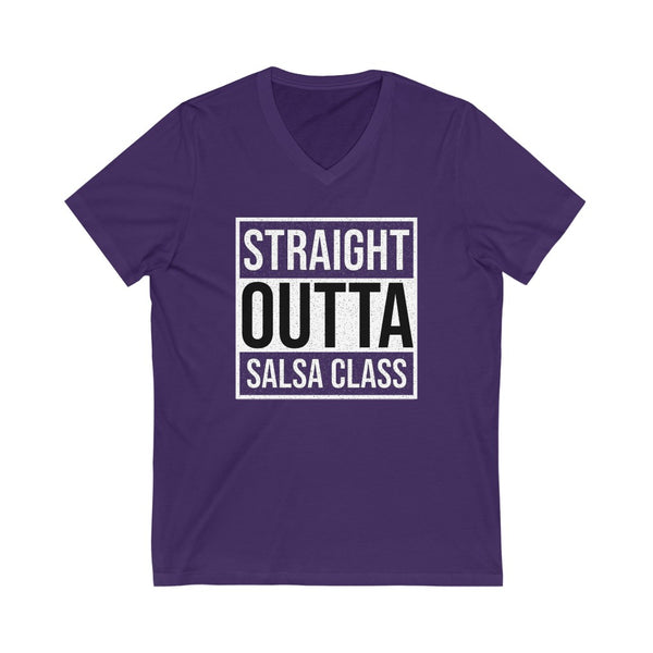 Men's 'Straight Outta Salsa Class' V-Neck