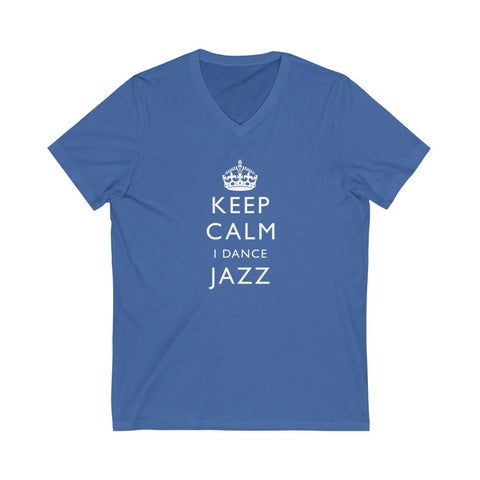 Men's 'Keep Calm Jazz' V-Neck