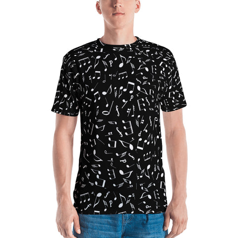 Men's Black Music T-shirt