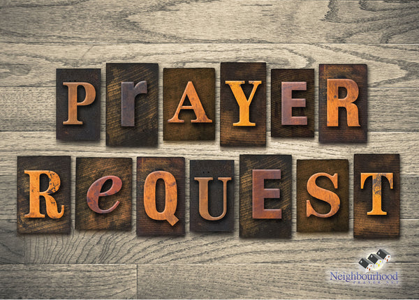 Prayer Request Card (Pack of 25)