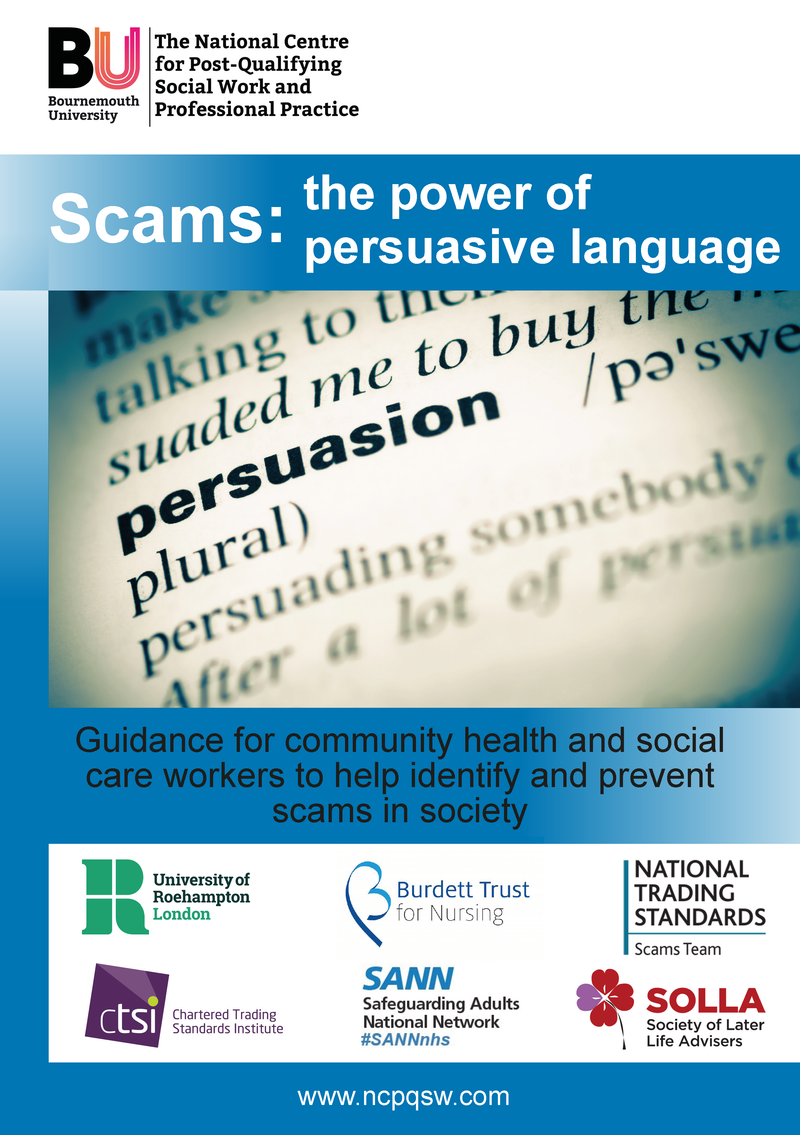 (DIGITAL DOWNLOAD) Guidance : Scams - the power of persuasive language