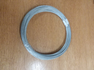 "Galvanized Aircraft Cable 1/16"" 1X19  500#test"