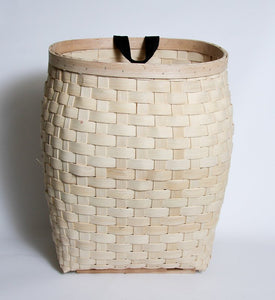Pete Rickard's Narrow Weave Wood Basket 18""