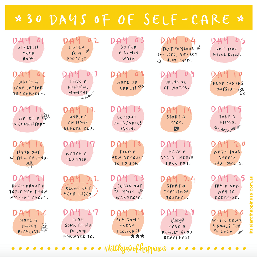 30 DAYS OF SELF CARE CHALLENGE