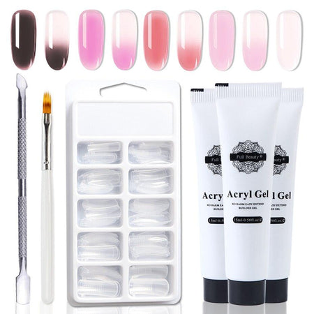 4pcs/set Poly Gel Clear Pink Nail Acrylic UV Gel Varnish 4pcs/set Poly Gel Clear Pink Nail Acrylic UV Gel Varnish - 4buyonline