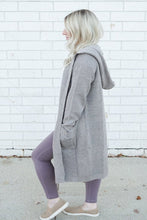 Load image into Gallery viewer, gray cardigan with pockets