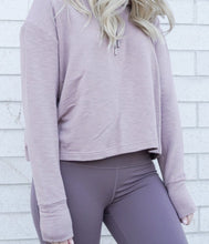 Load image into Gallery viewer, purple cropped sweatshirt