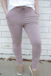 Lavender Highwaisted Joggers