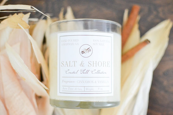 Cinnamon and Vanilla Soy Wax Candle