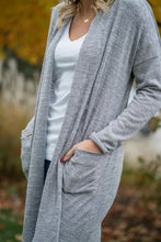Load image into Gallery viewer, grey cardigan with pockets