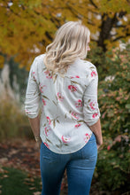 Load image into Gallery viewer, ivory floral top