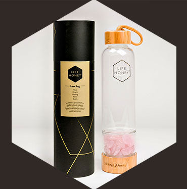 Love Jug: Rose Quartz Healing Water Bottle