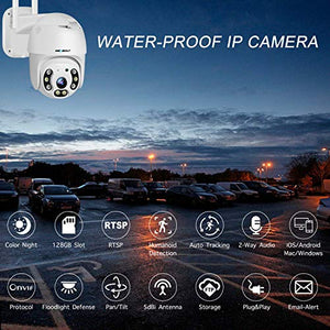 [Color Night] Floodlight Outdoor WiFi Security Camera - GENBOLT AI Home Security Automatic Human Tracking Pan Tilt Wireless IP Surveillance Dome Camera 1080P,AI Humanoid Alarm,Active Siren with Lighting Defense,Customizable Motion Detection,Instant Image