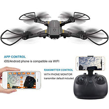 Load image into Gallery viewer, FALCORC Foldable Mini RC Drone with 720P WiFi Camera 2.4Ghz 6-Axis Gyro 2.4G Drone Selfie Quadcopter Remote Control Helicopter Gifts for Kids & Beginners