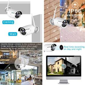 3MP WiFi Security Camera Outdoor - IP Surveillance Camera for GENBOLT Security Camera System GB205K/GB208K Expansion Only