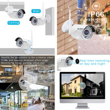Load image into Gallery viewer, Wireless Security Camera System, GENBOLT Outdoor 1080P Home WiFi Security Surveillance Camera System, 8 Channels Full HD 1080P Video Record NVR with 4pcs 1080P Waterproof Onvif IP Network Cameras,Auto Pair,NO Hard Drive(2020)