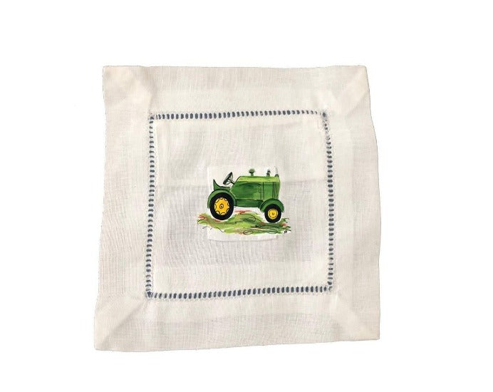 Green Tractor Tooth Fairy Pillow