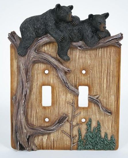 Bears Double Switch Plate Cover