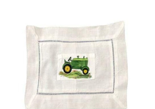 Large Green Tractor Tooth Fairy Pillow