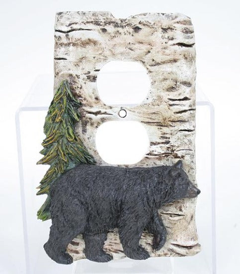 Rustic Bear Outlet Cover