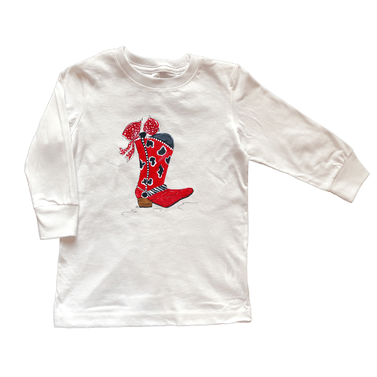 Red Cowgirl Boot Shirt