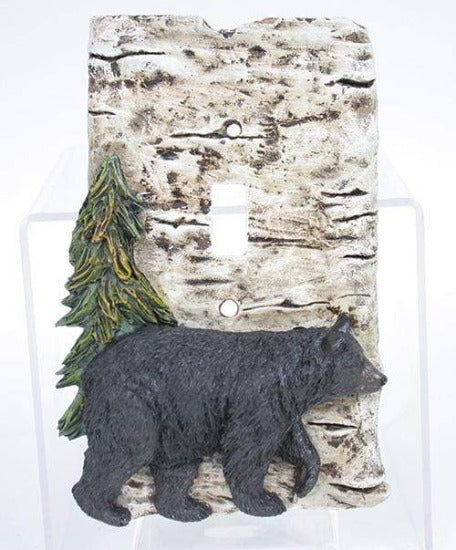 Black Bear Switch Plate Cover