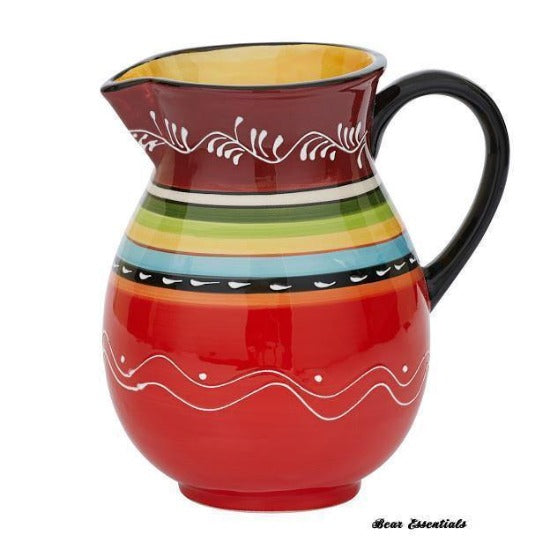 Hand Painted Southwestern Pitcher
