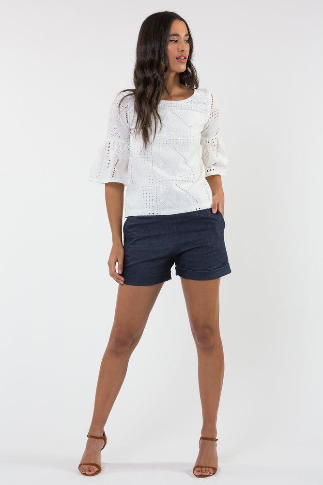 Short Lori denim marin - Short - Carrousel Clothing