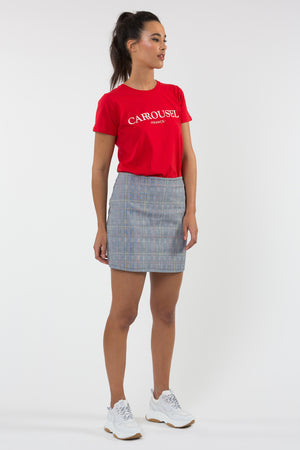 T-shirt coton bio rouge - T-shirt - Carrousel Clothing