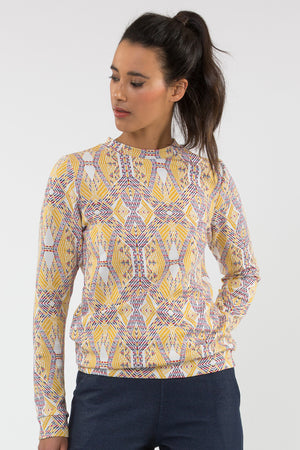 Pull maille jacquard coupe sweat fabriqué en France Carrousel