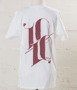 T-shirt 10/10 white - Carrousel Clothing