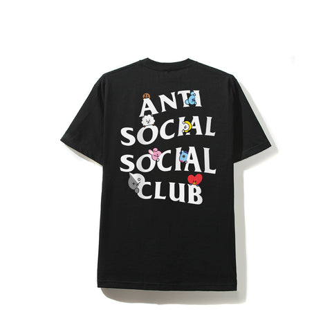 ASSC X BT21 Collab - Peekaboo Black Tee