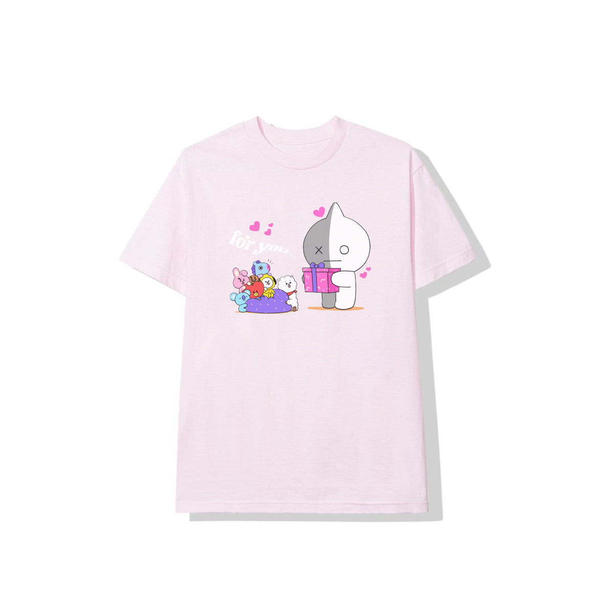 BT21 For You Tee - Light Pink