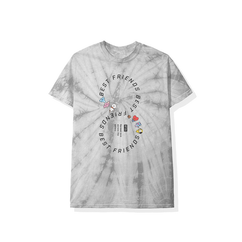 Friends Forever Grey Tie Dye Tee