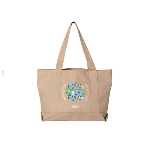 Green Planet Tote - Khaki