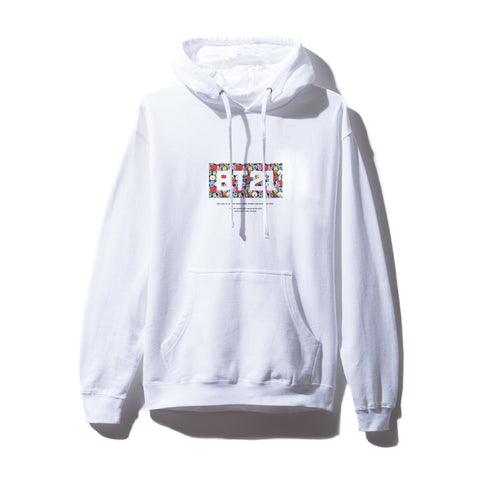 Puzzled White Hoodie