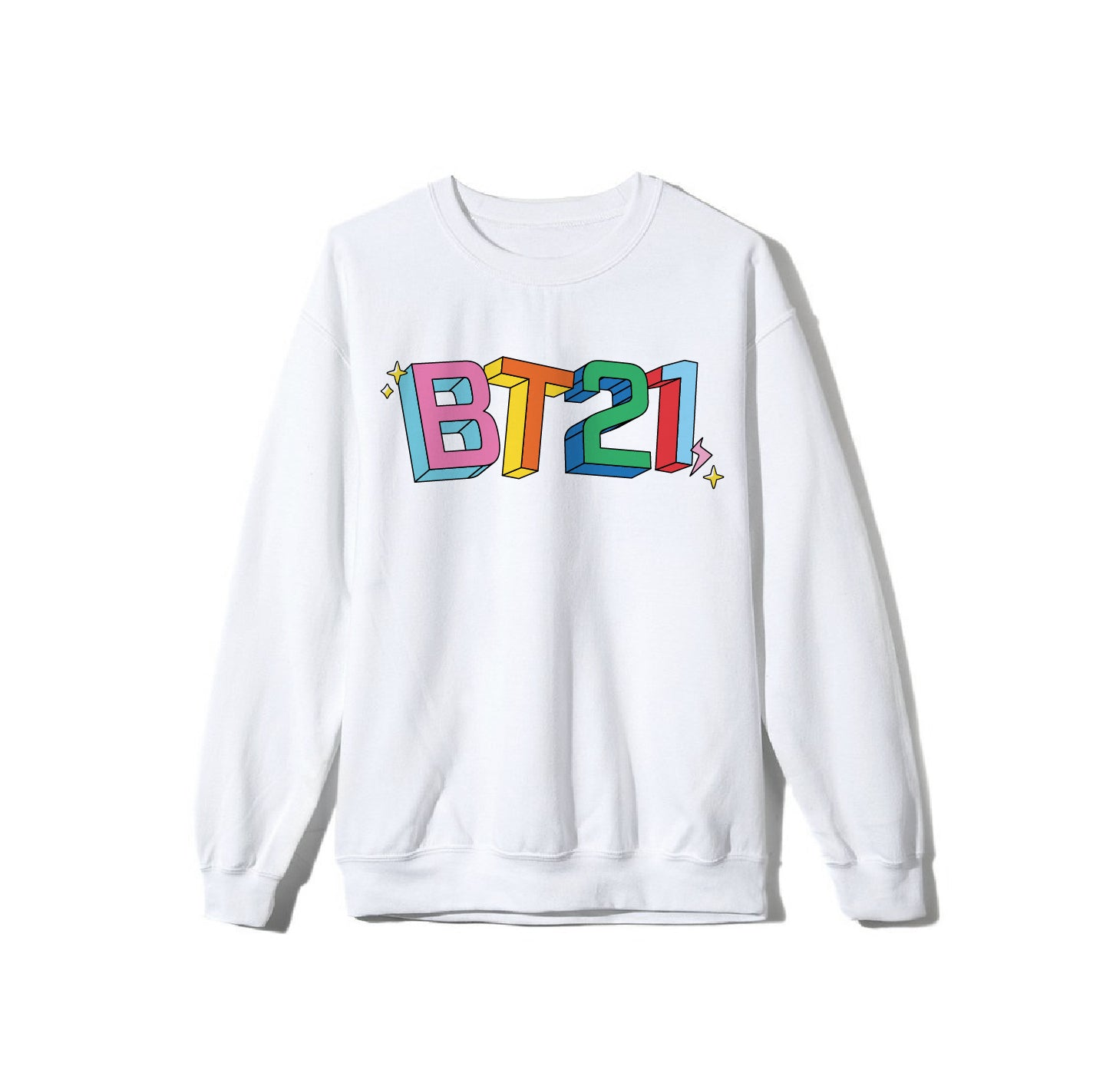 Warped White Long Sleeve Tee