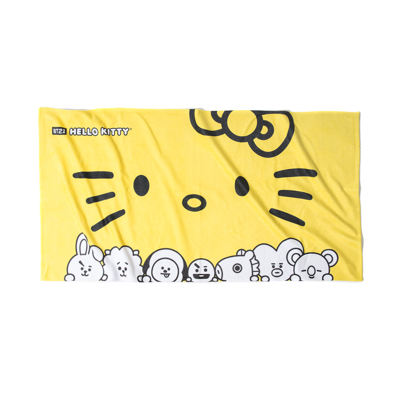 Bowtie Yellow Beach Towel
