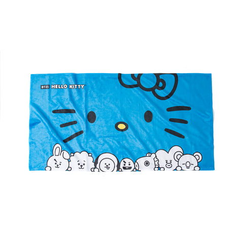 Bowtie Blue Beach Towel