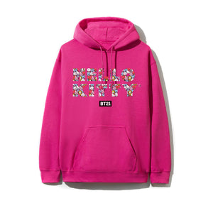 Puzzled Hot Pink Hoodie