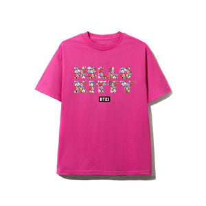 Puzzled Hot Pink Tee