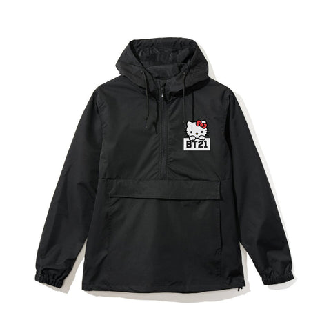 Posted Black Anorak