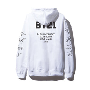Roll Call White Hoodie