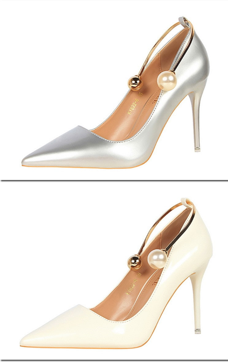 Elegant Pearl Pumps