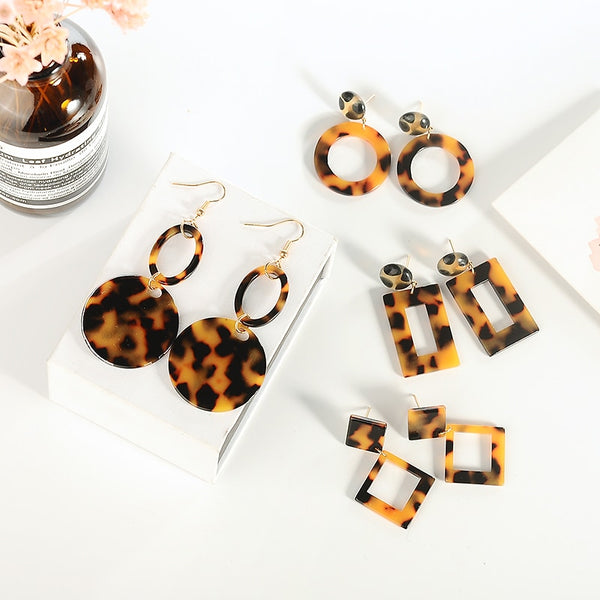 Acrylic Leopard Exaggerated Edition Earrings